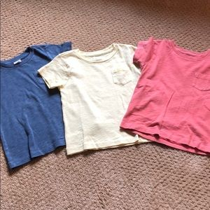 Bundle crewcut tees (blue, yellow, coral)